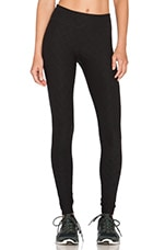 Quilted Essential Long Legging in Black