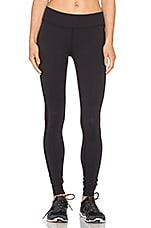 Slick Mesh Long Legging en Noir