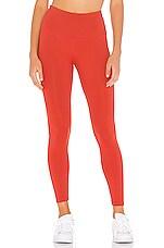 Beyond Yoga Sportflex High Waisted Midi Legging in Scarlet Sun