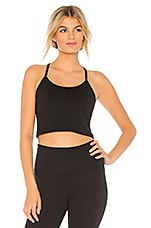 Beyond Yoga Slim Racerback Cropped Tank in Jet Black