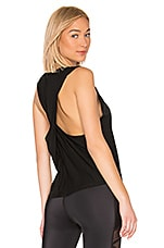 Beyond Yoga Round The Twist Tank in Black