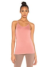 Beyond Yoga Slink It Over Tank in Pink Lei