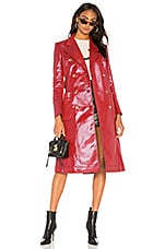 Bella Freud Astrid Trench Coat in Red