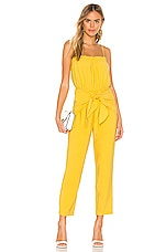 BCBGeneration Strapless Jumpsuit in Yellow