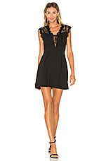 BCBGeneration Lace Inset Dress in Black