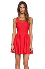 Tie Back Dress in Passion