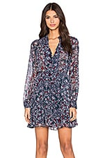 BCBGeneration Fit and Flare Dress in Deep Blue Combo