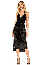BCBGeneration Midi Faux Wrap Dress In Black
