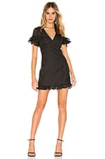 BCBGeneration Fit Flare Mini Dress in Black