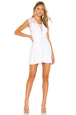 BCBGeneration Lace Trim Mini Dress in Optic White