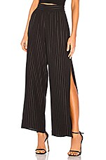 BCBGeneration Side Split Palazzo Pant in Black
