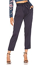 BCBGeneration Paperbag Tie Waist Pant in Dark Navy