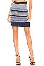 BCBGeneration Plaited Striped Skirt in Blue Combo