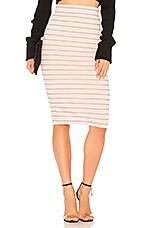 BCBGeneration Midi Pencil Skirt in Rose Smoke Combo