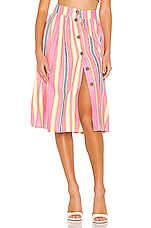 BCBGeneration Button Front Midi Skirt in Multi