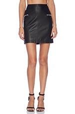 Zip Detail Mini Skirt in Black