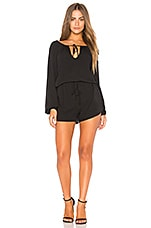 BCBGeneration Pirate Blouse Romper In Black