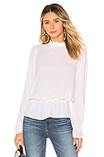 BCBGeneration Turtleneck Blouse in Optic White