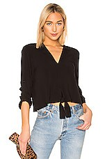 BCBGeneration Tie Front Blouse in Black