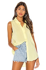 BCBGeneration Tie Back Sleeveless Top in Lemon
