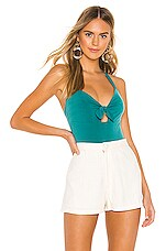 BCBGeneration Knot Front Bodysuit in Sea