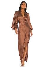 Birgitte Herskind Shila Long Dress in Copper