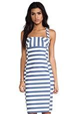 Black Halo Bryson Dress in Nautical Stripe