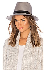 Bijou Van Ness Sunset Boulevard Hat in Silver & Black