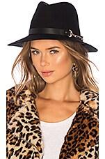 Bijou Van Ness Sunset Boulevard Hat in Black