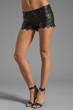Laser Hem Vegan Leather Short in Coachella