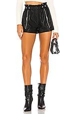 BLANKNYC Vegan Leather Side Zipper Short in Black