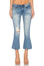 CROPPED FLARE DISTRESSED