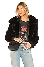 BLANKNYC Black Noise Faux Fur Jacket in Black