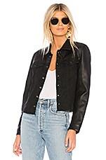 BLANKNYC Vegan Leather Jacket in Black Widow