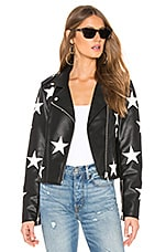 BLANKNYC Star Vegan Leather Jacket in The End Game