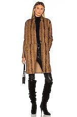 BLANKNYC Copperhead Faux Leather Coat in Copperhead