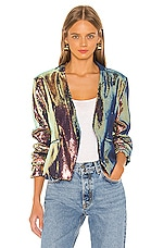 BLANKNYC Collarless Blazer in Cosmic Charge