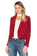 BLANKNYC Moto Jacket in Red Moon