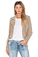 BLANKNYC Suede Moto Jacket in Sand Stoner