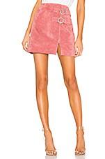 BLANKNYC Suede Buckle Skirt in Dusty Coral