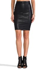 Leather Pencil Skirt in Pussy Cat