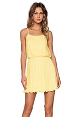 Pleated Tank Dress in Yellow