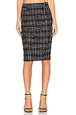 Tweed Pencil Skirt in Black