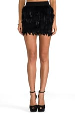 x REVOLVE Feather Skirt in Black