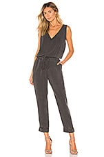 Bella Dahl Cross Back Jumpsuit in Smoke Pearl