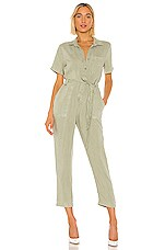Bella Dahl Button Front Jumpsuit in Olive Grove