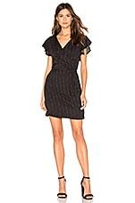 Bella Dahl Ruffle Sleeve Wrap Dress in Black