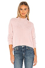 Bella Dahl Mock Neck Sweater in Pink