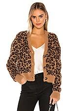 Bella Dahl Sweater Cardigan in Golden Leopard