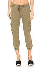 Flap Pocket Cargo Jogger in Clover